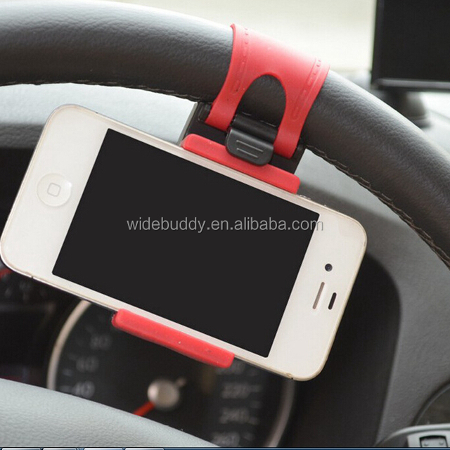 Car Bike Steering Wheel Clip Mount Holder For iPhone 4S 5 5S 5C for iPod for Samsung Galaxy S4 S5 Cell Phone GPS MP4 PDA