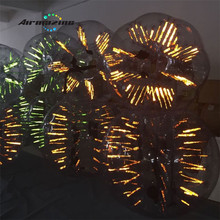 Glowing LED bubble ball soccer/flashing LED inflatable bumper bubble ball