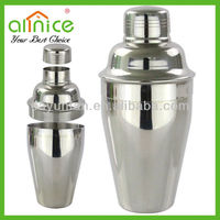 SUS202# European Style wine shaker/cocktail shaker/steel bar tool