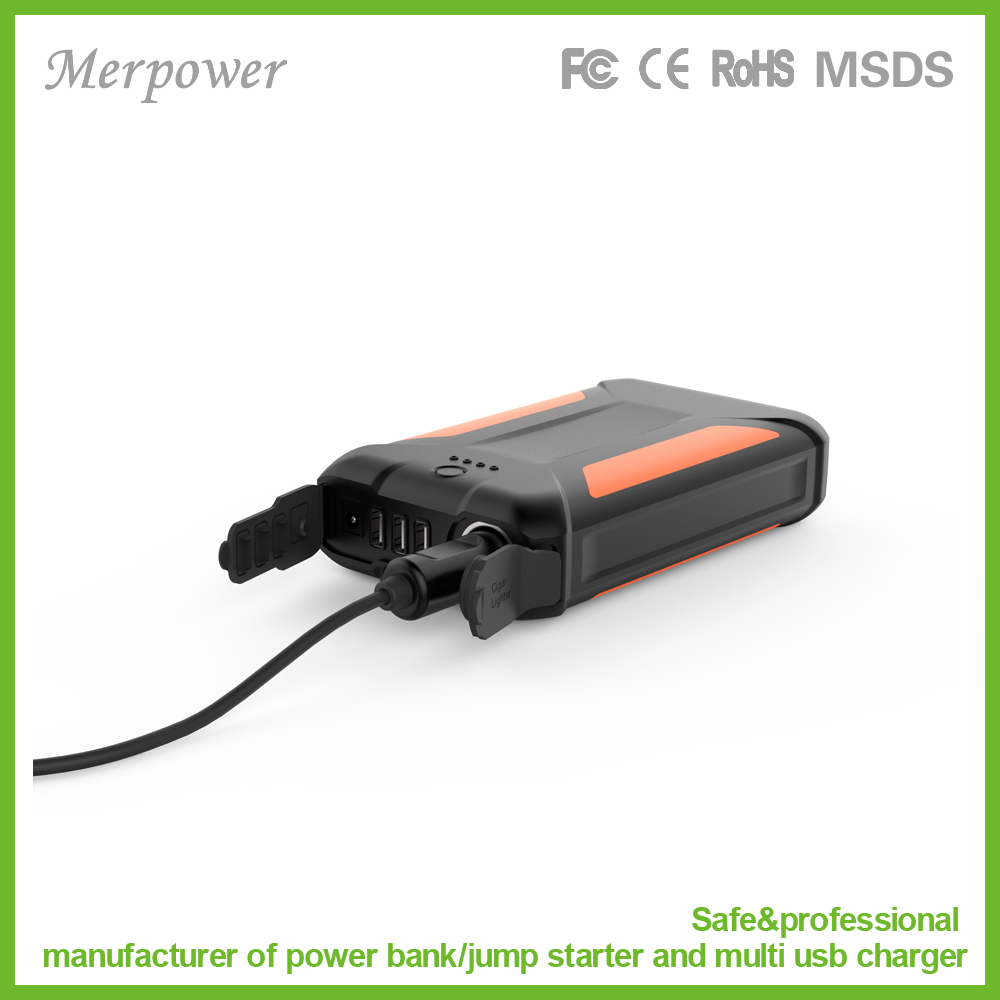 Great design battery pack with protective cover and waterproof recharge via AC for camping