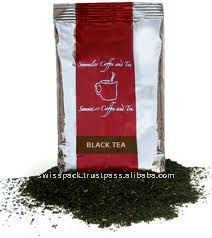 Black dark Tea Packaging Pouch