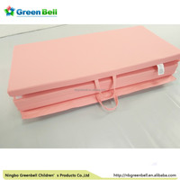 Pink colors PVC leather folding yoga Mat