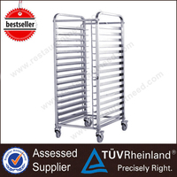 China Reasonable Price Tray Meat Stainless Steel Kitchen Trolley