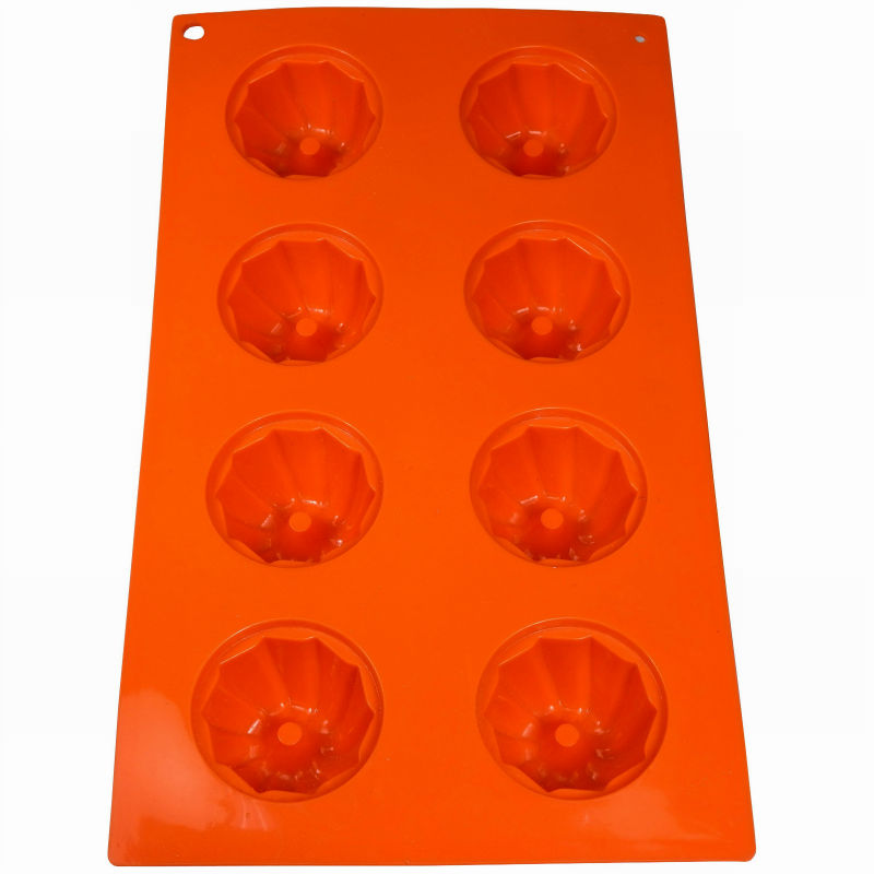 JK16233D 6-Cavity 29.5x17.5cm, Silicone Cupcake Mould