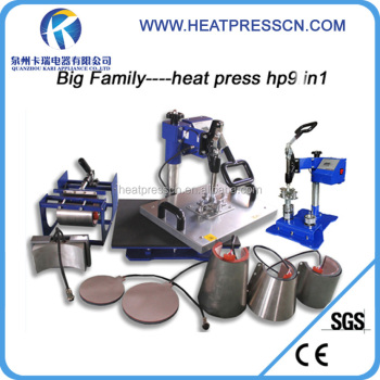 Combo t shirt mug cap heat transfer printing press machine
