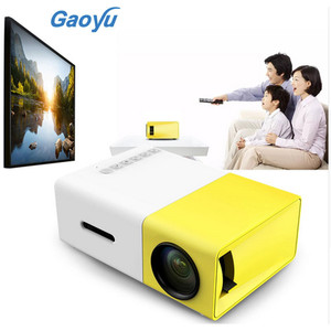 YG300 YG - 300 LCD Projector 600LM 1080P Mini Portable HD Movie LCD Projector For Video Games TV Home Cinema Media Player