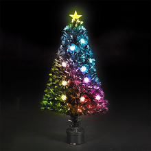 New LED Snowflake Decoration 240CM Fiber Optic Christmas Tree with Star Topper