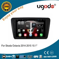 High quality Android 10.1 inch Car Stereo GPS navigation for Skoda Octavia 2015