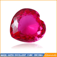 Heart ruby synthetic gemstone any size available