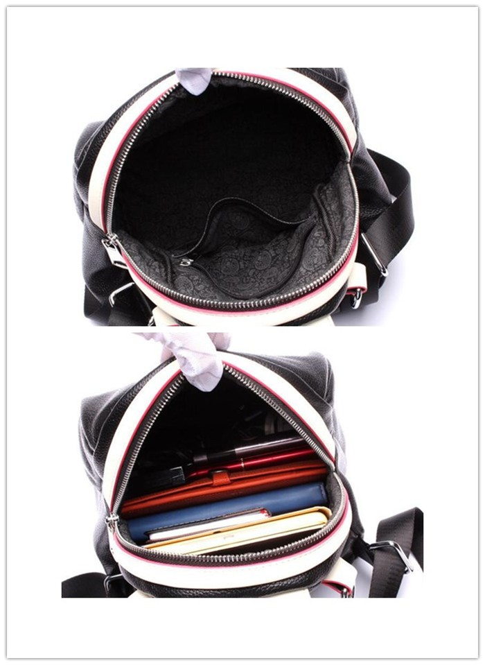 Wholesale real leather fashion girl backpack, Cute mini backpack bag for lady_7
