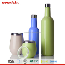 Everich 500ml double wall stainless steel wine canteen water bottle