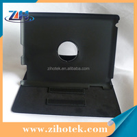 Leather sublimation flip cover case for iPad 2/3/4 with 360 Degree rotation Dormancy function