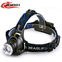 CYSHMILY long-range waterproof telescopic zoom xml t6 10w led rechargeable high power zoom headlamp