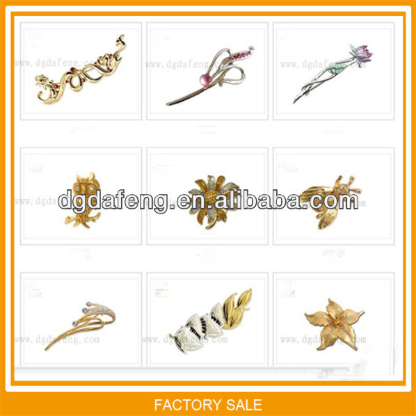 beautiful natural gold plated pearl brooch wholesale