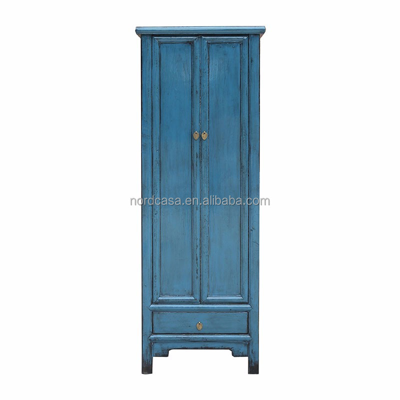 Chinese Recycled Wood Asian Furniture Colorful Whole Antique Wardrobe