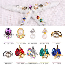 PinPal brand wholesale 2017 new arrival acrylic hotfix alloy decorative nail art crystal rhinestone