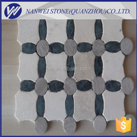 American standard good quality floor covering beige color marble mosaic