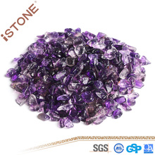 Natural Gemstone Chips Amethyst Gravel Loose Beads for Decoration