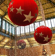 Attractive Giant Inflatable Hellium Christmas Balloon, Inflatable Christmas Helium Balloon for Advertising/Decoration