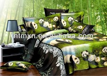 animal design beding set 100%cotton fabric Bedsheet Bedspread hot sale 2014 new product 4 piece 3D reactive printing