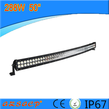 Energy-saving and longer life span 288w curved 50inch led light bar with good price