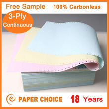 Free Sample 3-Ply Continuous Carbonless Printing All Kinds Sizes Continuous Form Paper