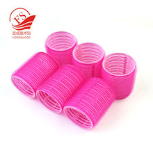 Cheap stock hook and loop plastic hair rollers