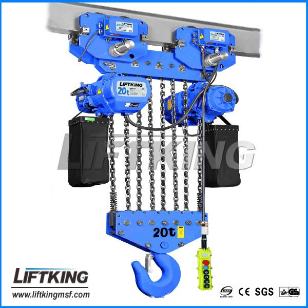 20ton double speed/single speed electric operated hoist /8fall chains