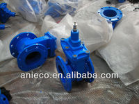 cast iron metal seated flanged oil pipe gate valve