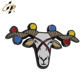 Wholesale zinc alloy hard enamel custom metal animal badge pin