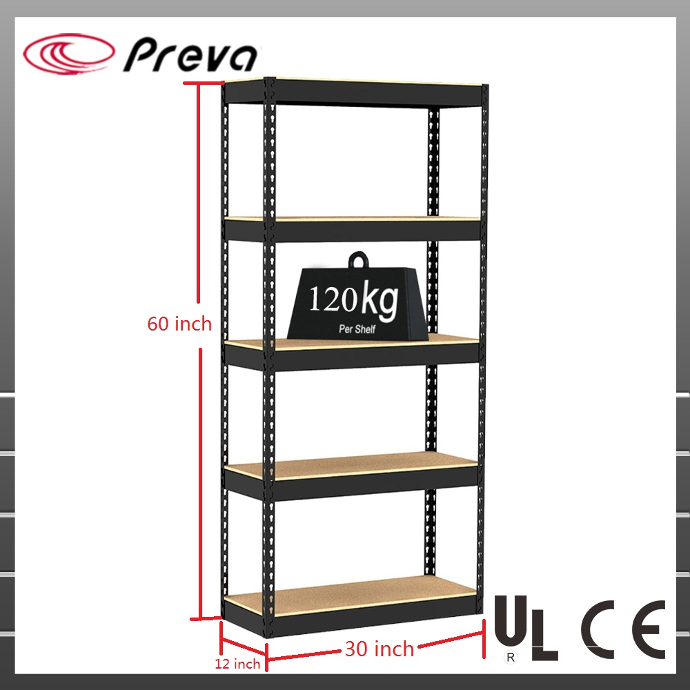 5 Tier Black Shelving Unit Storage Garage Racking <strong>Shelf</strong> <strong>Shelves</strong> 120kg