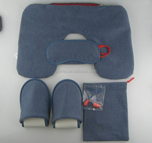 Grey jersey 4 in 1 high quality travel set/travel kit