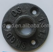 Various Black Malleable Iron Threaded Floor Flange used for antique furniture table legs
