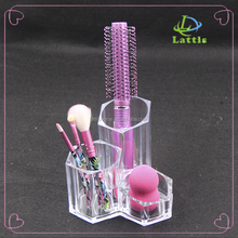 transparent acrylic makeup storage /Hot Sale cosmetic organizer/hair brush holder