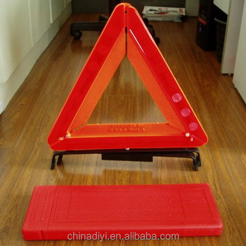 Car Traffic Triangle Plastic Reflecting Warning Danger Safety Sign