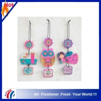 2016 top sale paper car air freshener, air freshener paper,make hanging paper car air freshener smelling face little tree