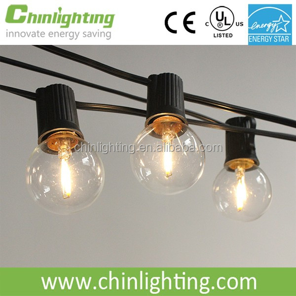 LED String lights e17 G40 led filament bulb for patio decoration