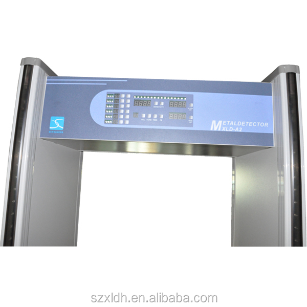 6 detecting zones of walk through metal detector XLD-A2