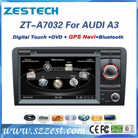 ZESTECH factory OEM bluetooth car stereo for Audi A3/S3/RS3 with GPS/Steering wheel control/DVD/CD/MP3/Mp4