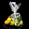 transparent opp cpp fresh fruits/vegetable packaging wicket plain bag