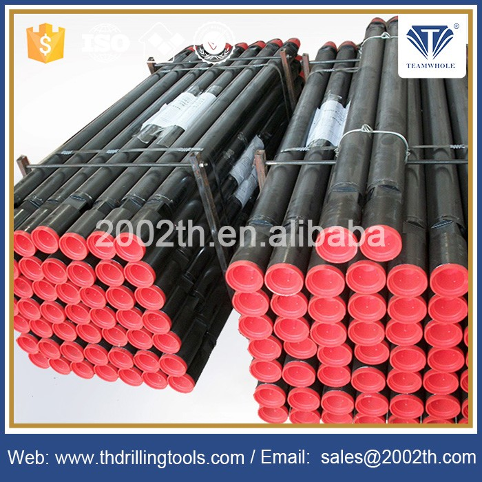 Friction welded standard API DTH drill pipes for rock drilling and well drilling