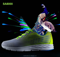 Grey Peacock Design Men Sport Running Shoes