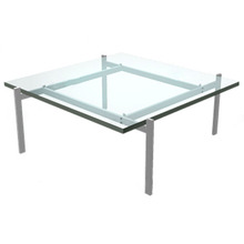 Replica PK61 Coffee table,square top glass table,classical dining table