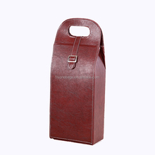 2 bottle leather wine carrier