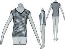 2014 New arrivel Popular Cheap Wholesale In stock Naruto Cosplay Costume black/white gridding vest For Grils