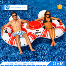 Customized Printing Muiti-color Float Double Inflatable Pool Rings