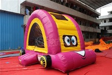 Pink cartoon car inflatable bouncer, inflatable jumping castle for kids