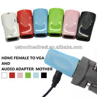 HDMI to VGA adapter M/F ,F/F ,Mini HDMI to VGA adapter with audio in different color