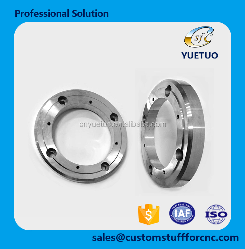China OEM CNC machining parts high precision Aluninum Alloy 6061 for gas sealed motor spare parts flange