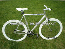 700C specialized silver alloy frame fixed gear bike